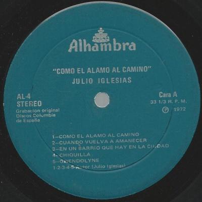 Julio Iglesias - Como El Alamo Al Camino (Album)