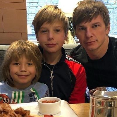 Андрей Аршавин встретился с сыновьями